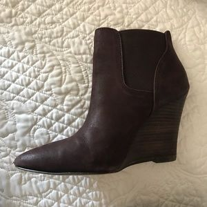 Sole Society Stacked Wedge Bootie